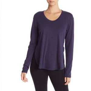 Z By Zella Crossover Long Sleeve Tee Blue Small